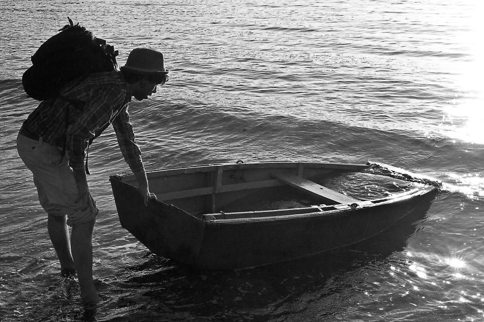Daniel Pulling Boat
