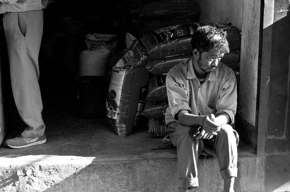 Nepalise man looking sad
